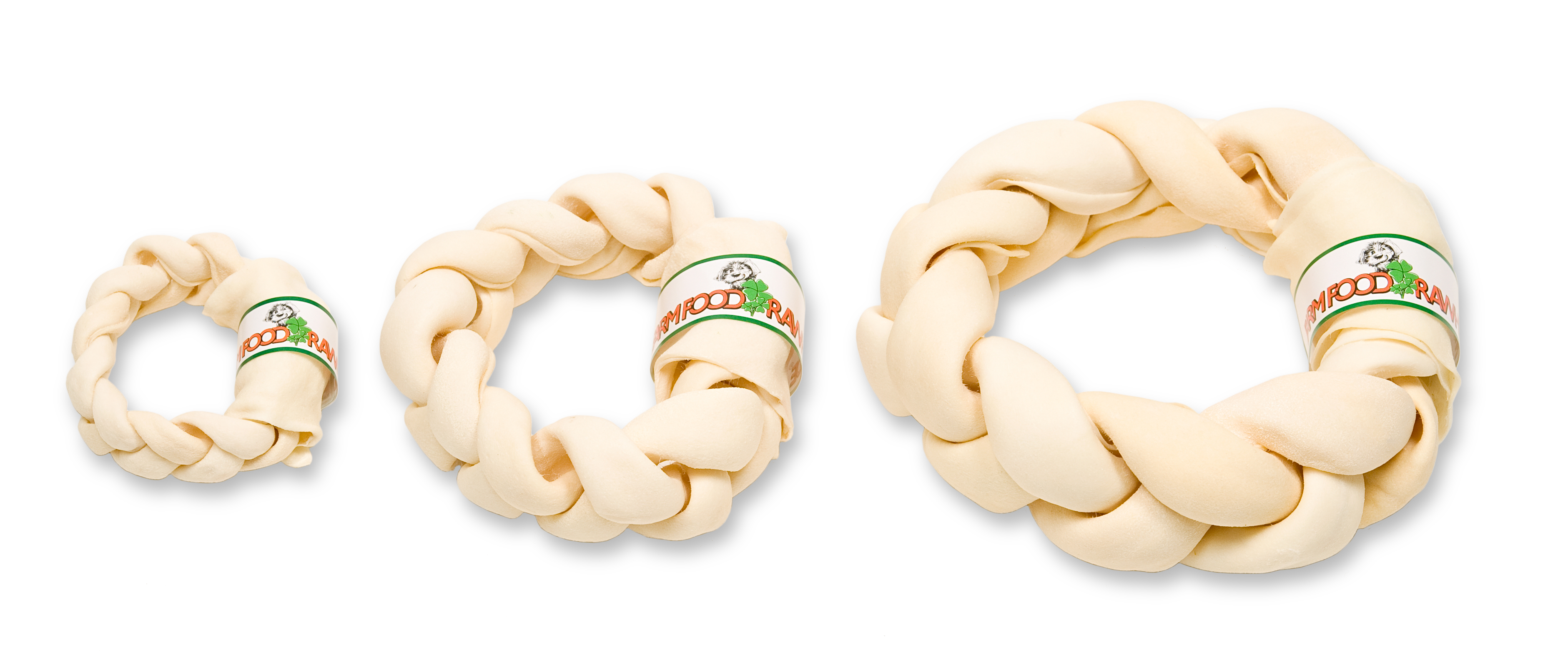 Farm Food - Rawhide Dental Braided Donut S, M & L Image